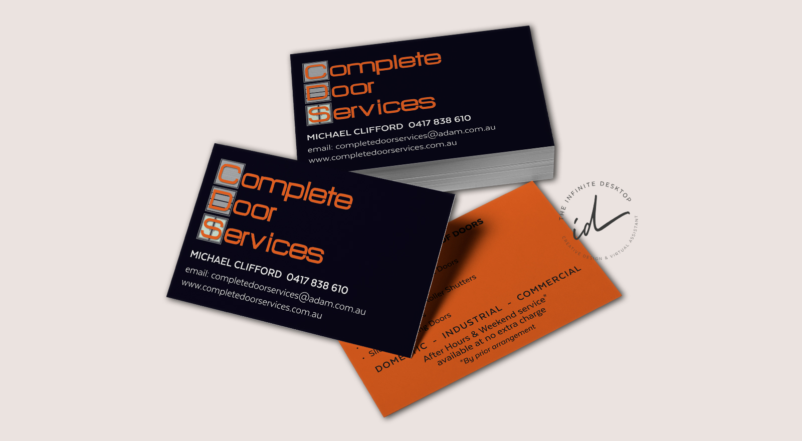 Business Card design for Complete Door Services