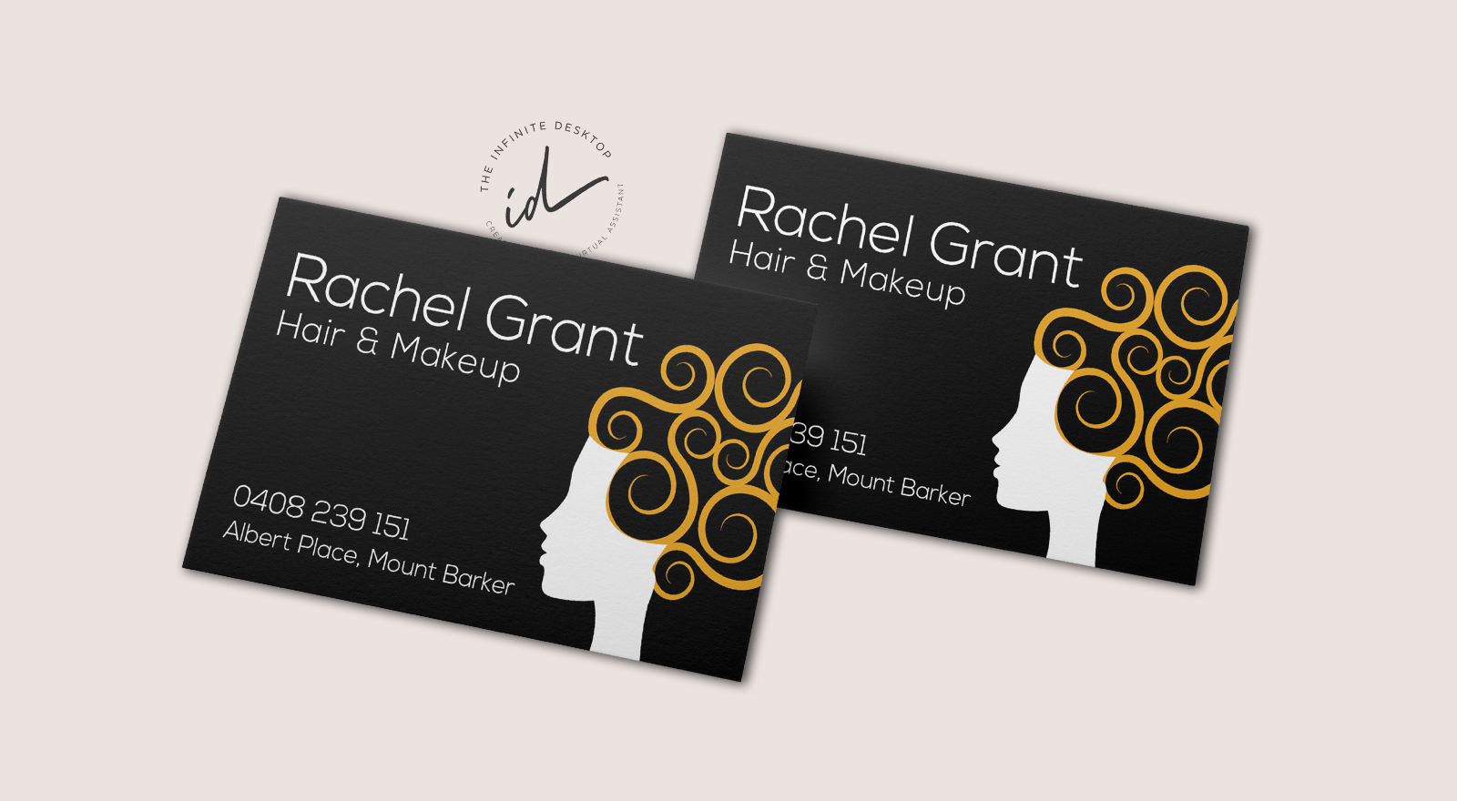 Business Card design for Rachel Grant Hair & Makeup