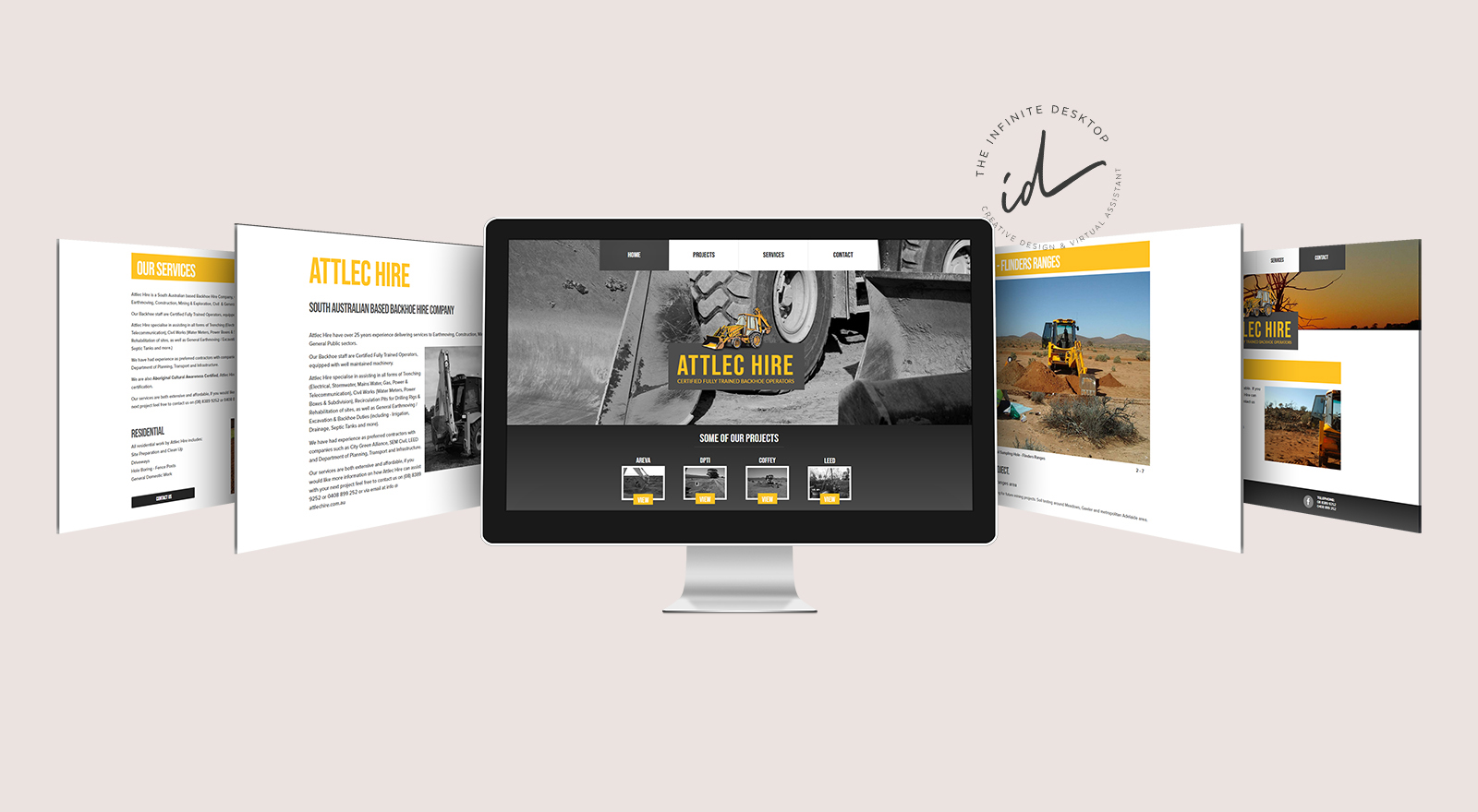Web redesign for Attlec HIre