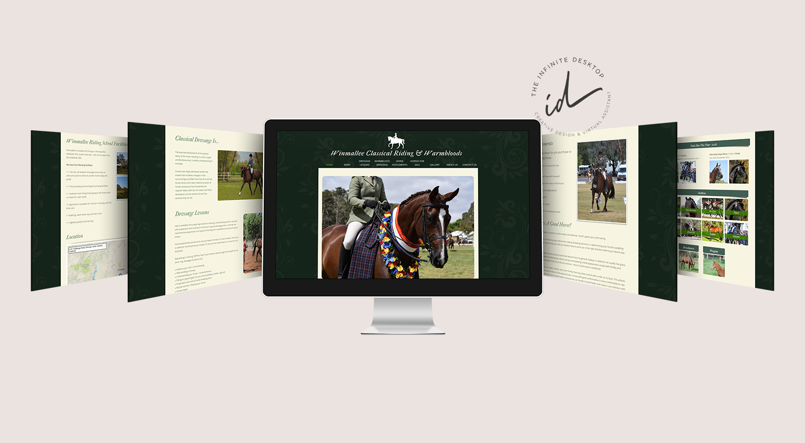 Web redesign for Winmallee Classical Riding