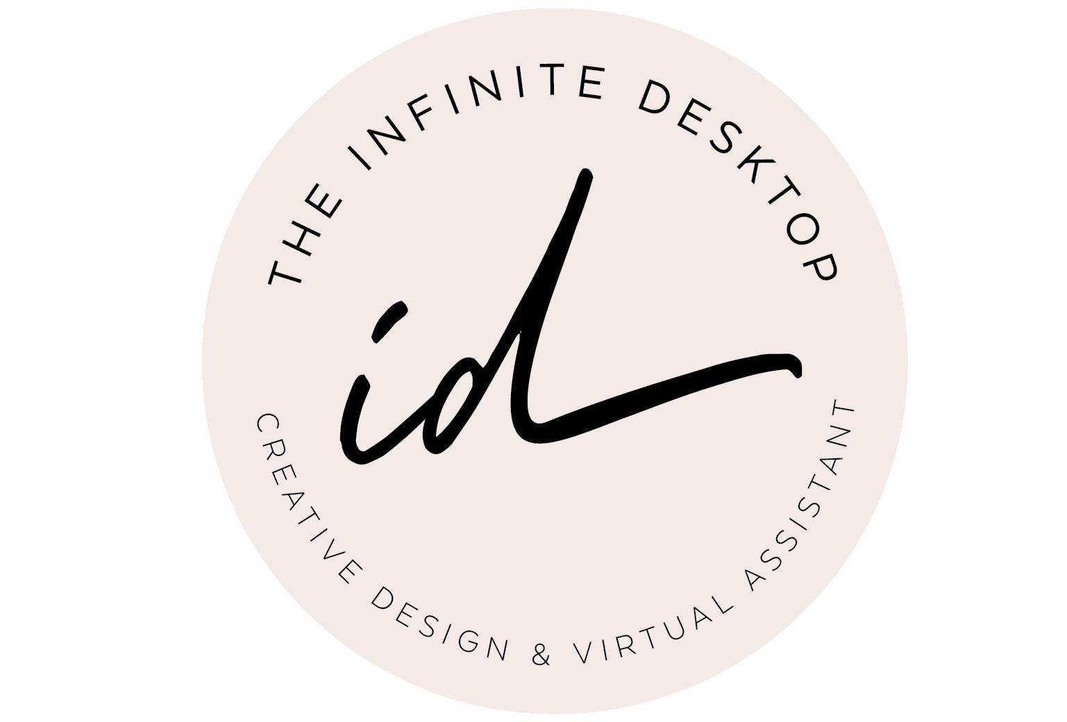Logo-The Infinite Desktop_round-logo-cream black font