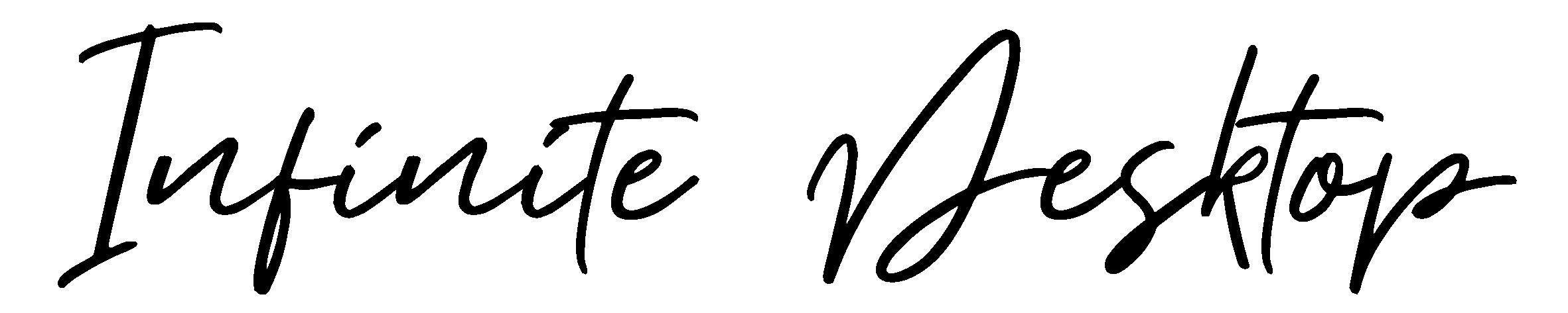Logo-The Infinite Desktop-2018-handwritten_black-no tag