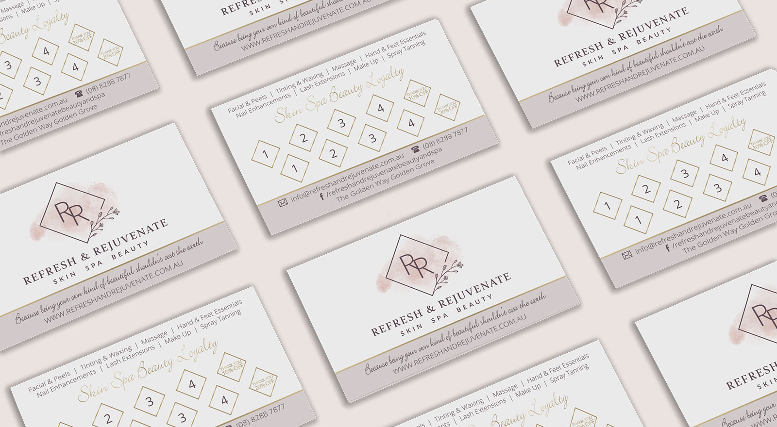 Business Loyalty Card design for Refresh & Rejuvenate